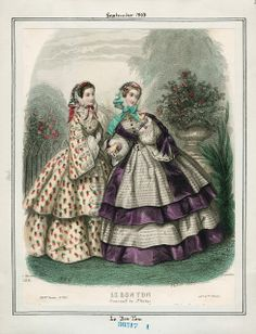 In the Swan's Shadow: Le Bon Ton, September 1858. Civil War Era Fashion Plate