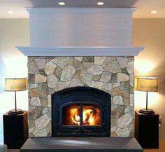stone veneer fireplace | ... Natural Stone Siding for Architecture: Stone Veneer Fireplace Designs