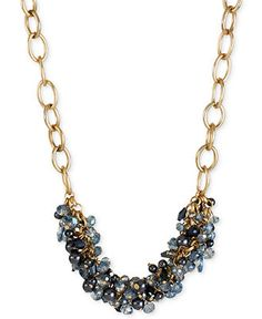 Kenneth Cole New York Necklace, Gold-Tone Faceted Shaky Bead Frontal Necklace - Fashion Jewelry - Jewelry & Watches - Macy's