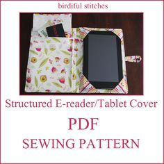 Structured e-reader/tablet cover PDF Sewing Pattern