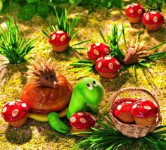 Mini-Fliegenpilze für Kinder - Für Kinder sind diese kleinen Muffins ein Traum