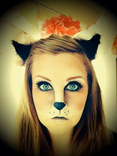 """nspiration about Fox Halloween Makeup Ideas can just read this full article we had created for you. So checkout Cute Fox Halloween Makeup Ideas For You"""" Fox Halloween, Cute Halloween Makeup, Halloween Nail Designs, Halloween Nails, Halloween Costumes, Halloween Stuff, Halloween Halloween, Fox Makeup, Animal Makeup"""
