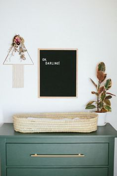sweet changing table set up