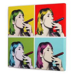 personalised Warhol canvas from £68
