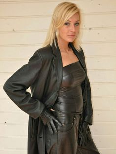 Leather Trousers, Leather Gloves, Leather Skirt, Leather Jacket, Grey Fashion, Leather Fashion, Women's Fashion, Long Leather Coat, Leder Outfits