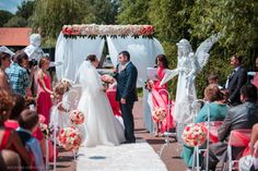luxurious wedding ceremony with angels