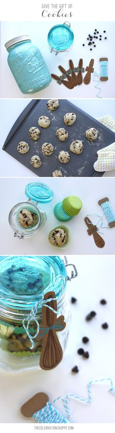 Fun DIY Cookie Jar Gift Idea! Perfect for Mother's Day, Teacher Appreciation week, a Thank You gift, a Birthday or anyone just for fun.  Who doesn't love cookies? | @kimbyers TheCelebrationShoppe.com