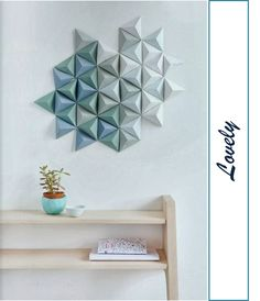 DIY....DECORAR LA PARED CON MURALES DE ORIGAMI