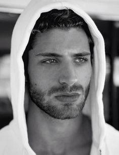 Thom Morell, scruffy bearded male model