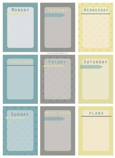 "FREEBIE ""Every Day"" Journaling cards / Printables by Polley Printables"