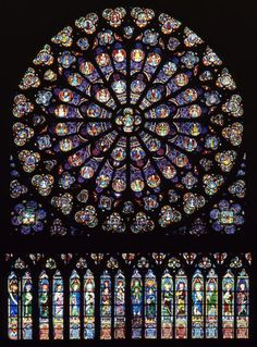 Pierre de Montreuil, Notre-Dame de Paris, Rose Sud (1267), van binnen naar buiten