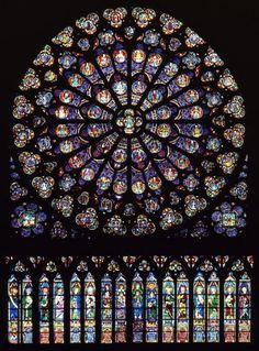 Notre-Dame de Paris, Rose Sud (1267),  vue de dedans