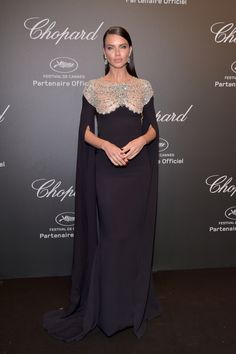 """Adriana Lima Photos Photos - Adriana Lima attends the Chopard """"SPACE Party"""", hosted by Chopard's co-president Caroline Scheufele and Rihanna, at Port Canto on May in Cannes, France. - Chopard Space Party - Photocall - The Cannes Film Festival Estilo Adriana Lima, Adriana Lima Style, Ellie Saab, Celebrity Red Carpet, Celebrity Style, Beautiful Dresses, Nice Dresses, Dolce & Gabbana, Tom Ford"""