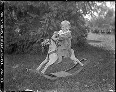 Vintage photo boy on rocking horse Vintage Children Photos, Vintage Images, Antique Rocking Horse, Rocking Horses, Old Pictures, Old Photos, Wooden Horse, Beautiful Children, Vintage Toys