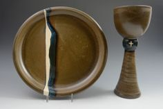 """Joshua Houben. Communion Set 10.5"""" x 12.5"""" x 10.5"""" See this work and more at the Tennessee Craft Fair May 2-4, 2014 at Nashville's Centennial Park."""
