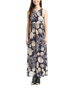 Another great find on #zulily! Navy Seashell Keyhole Maxi Dress #zulilyfinds