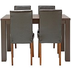 Buy Pemberton Walnut Effect Dining Table & 4 Chocolate Chairs at Argos.co.uk, visit Argos.co.uk to shop online for Dining sets