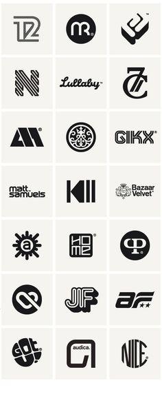 A selection of Logos in block colour.                                                                                                                                                                                 もっと見る #Logodesign
