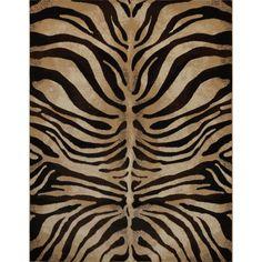 Downtown Black/ Ivory Zebra Area Rug (7'10 x 10'6)