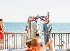 Vibrant Whimsical Beach Wedding Photo by So Life Studios @solifestudios
