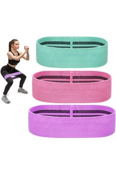 (This is an affiliate pin) sportsnew Fitness Resistance Bands for Legs and Butt, Fabric Workout Exercise Booty Bands, Non Rolling Hip Thigh Glute Elastic Bands Set for Women Men Exercise Bands, Resistance Band Exercises, Glutes, Thighs, Booty, Legs, Workout, Fitness, Fabric