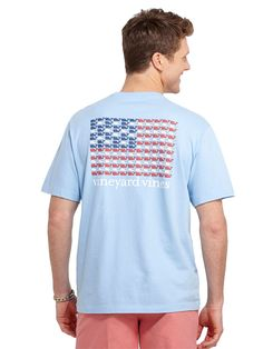 Vineyard Vines Men's Short Sleeve Whales and Stripes Graphic Pocket T-shirt
