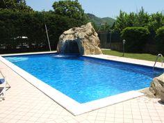 grotta in piscina