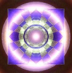 Mandala circle and four points. Meditation.