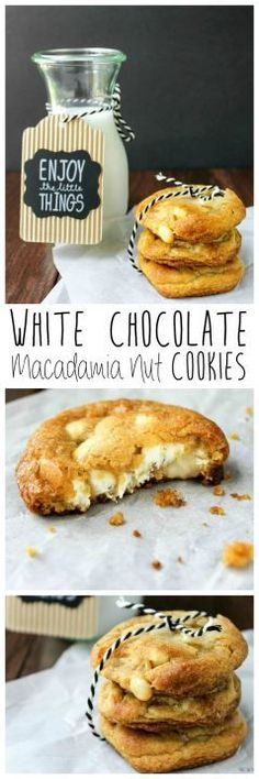 This classic combination never gets old! These cookies will please anyone! White Chocolate Macadamia Nut Cookies   Take Two Tapas
