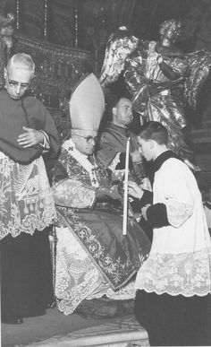 young Blessed Giuseppe Puglisi with cardinal Ernesto Ruffini