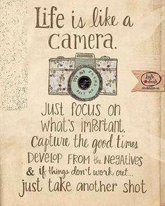 Life is like a Camera . . .
