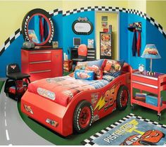 car theme bedroom this would be awesome