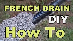 French Drain for Do It Yourself Homeowners, How To Install a French Drain, By Apple Drains Drainage Contractors. Water pooling in low spot of Yard is solved . Backyard Drainage, Landscape Drainage, French Drain Diy, Drain Français, Dry Creek Bed, Drainage Solutions, Dry Well, Rain Garden, Backyard Projects
