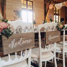 Des chaises DIY pour le mariage / Wedding decoration diy @lmapn