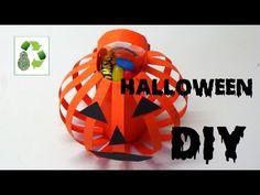Diy Halloween. Hoy reciclamos tubos de cartón, haremos dulceros en forma de calabaza para Halloween, muy fácil! Más videos de reciclaje para halloween: https...
