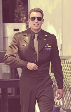 Chris Evans as Captain America. I love you...