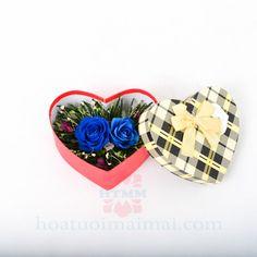Hộp trái tim hoa hồng xanh - món quà độc đáo cho tình yêu vĩnh cửu