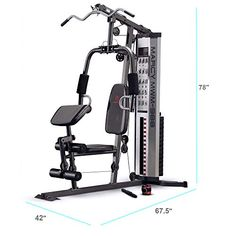 Get over 30 strength training exercises with the Marcy 150 lb Stack Home Gym to effectively burn calories and increase your muscle mass. This home gym features Home Gym Exercises, Gym Workouts, At Home Workouts, Training Exercises, Fitness Exercises, Workout Gear, Bowflex Workout, House Workout, Best Home Gym Equipment