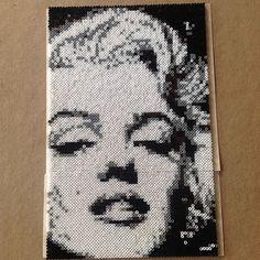 Marilyn Monroe portrait hama mini beads by leelth