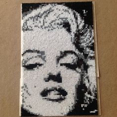 Marilyn Monroe portrait hama mini beads by leelth