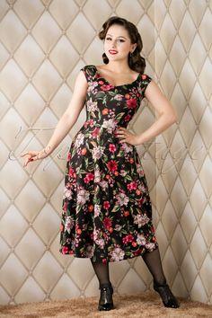Vintage Chic Autumn Burst Swing Dress