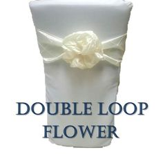 How to Tie a Chair Sash - The Double Loop Flower