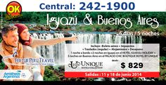 Paquete Iguazú Buenos Aires 6 Días 5 Noches vía Aerolíneas Argentinas