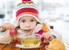 """January is National Soup month. Nothing is more comforting on a chilly day then a bowl of warm soup. Have a """"make your own soup bar"""" that allows each family member to create their own ingredients for a perfect soup. Monkey Business, Soup Bar, Food Items, Healthy Kids, Baby Food Recipes, Lunch, Cold, Children, Baby Foods"""