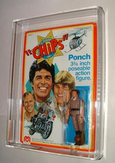 """1979 MEGO CHIPS TV SHOW PONCH 3 3/4 """"ACTION FIGURE GRADED AFA 85"""