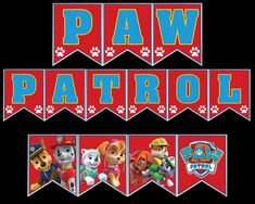 Paw Patrol Banner Party Printable Paw Patrol, Party Printables, Vibrant Colors, Banner, Letters, Picture Banner, Bright Color Schemes, Banners, Letter