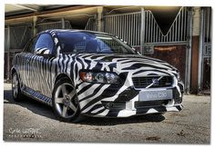 Volvo C30 Zebra R-Design Car...I would not go this far with zebra print. But everything inside my car is zebra :)