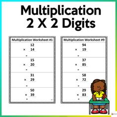 Utilize these worksheets to reinforce two digits by two-digit multiplication.This resource include 10 pages ( 4 items per page) of worksheets and answer key.Check out our other Math resources. Click on the link below.Math resources... School Resources, Classroom Resources, Math Resources, Math Activities, Two Digit Multiplication, Multiplication Worksheets, School Stuff, Back To School, My Teacher