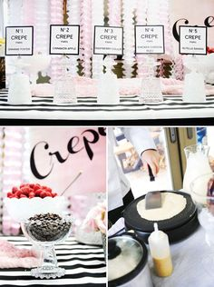 crepe making bar for a party