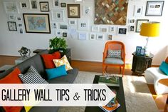 Gallery Wall Tips and Tricks for making your wall your own! ~ http://www.creatingreallyawesomefreethings.com/gallery-wall/